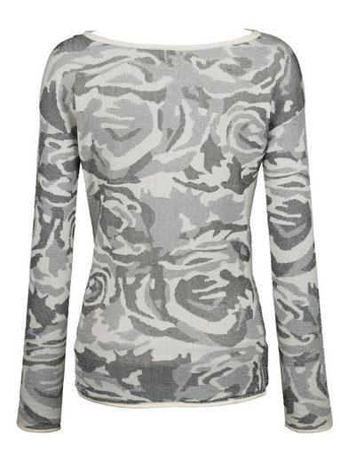 Alba Moda Pullover im verfremdeten Tarnmuster-Print