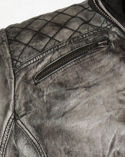 JCC Lederblouson in trendigem grau-antik Look Jasper