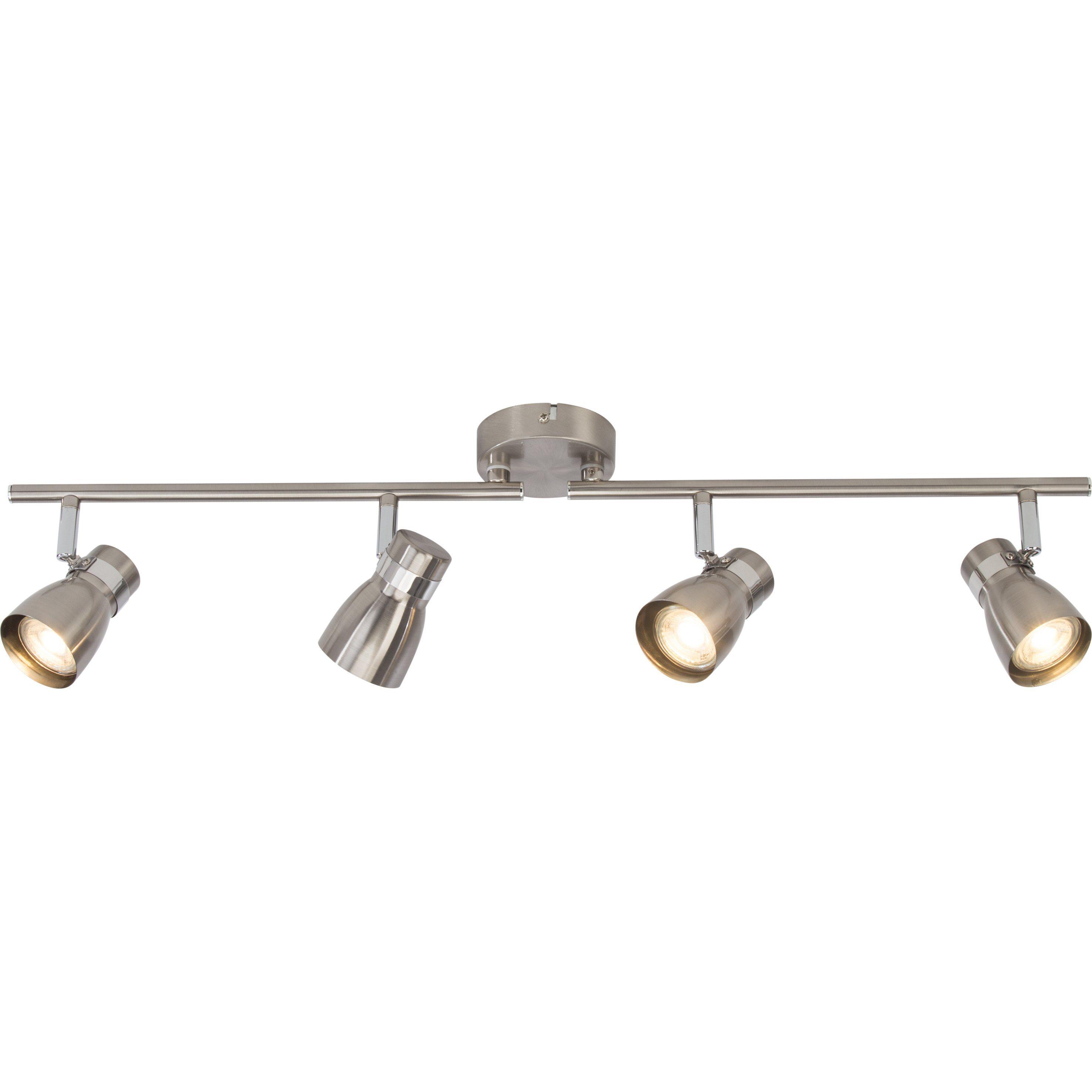 BreLight Mattie LED Spotrohr, 4-flammig eisen/chrom