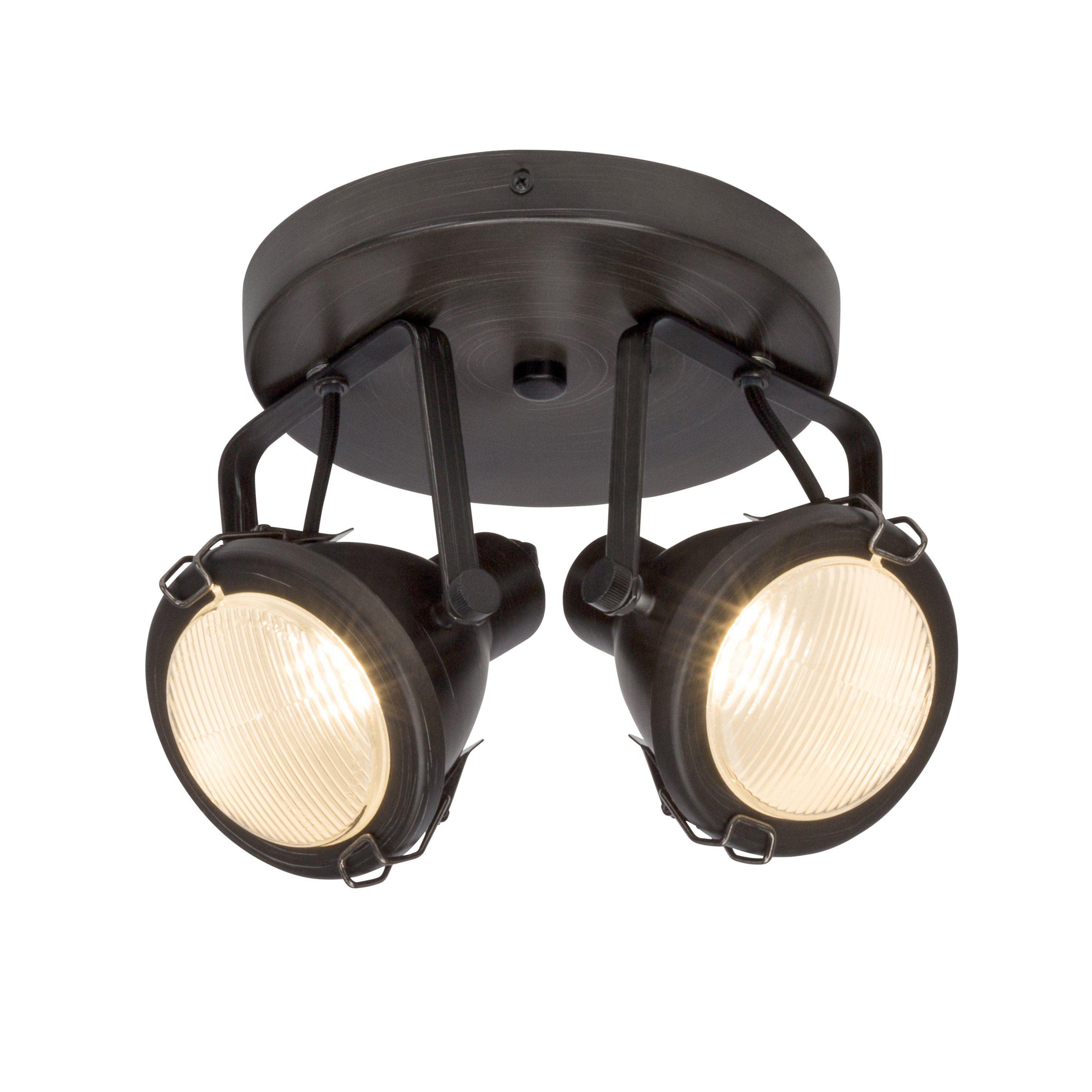 Brilliant Leuchten Bentli Spotspirale, 2-flammig antik/schwarz