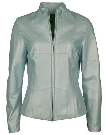 Jcc Leather Jacket With Beautiful Stehkragen Spring2