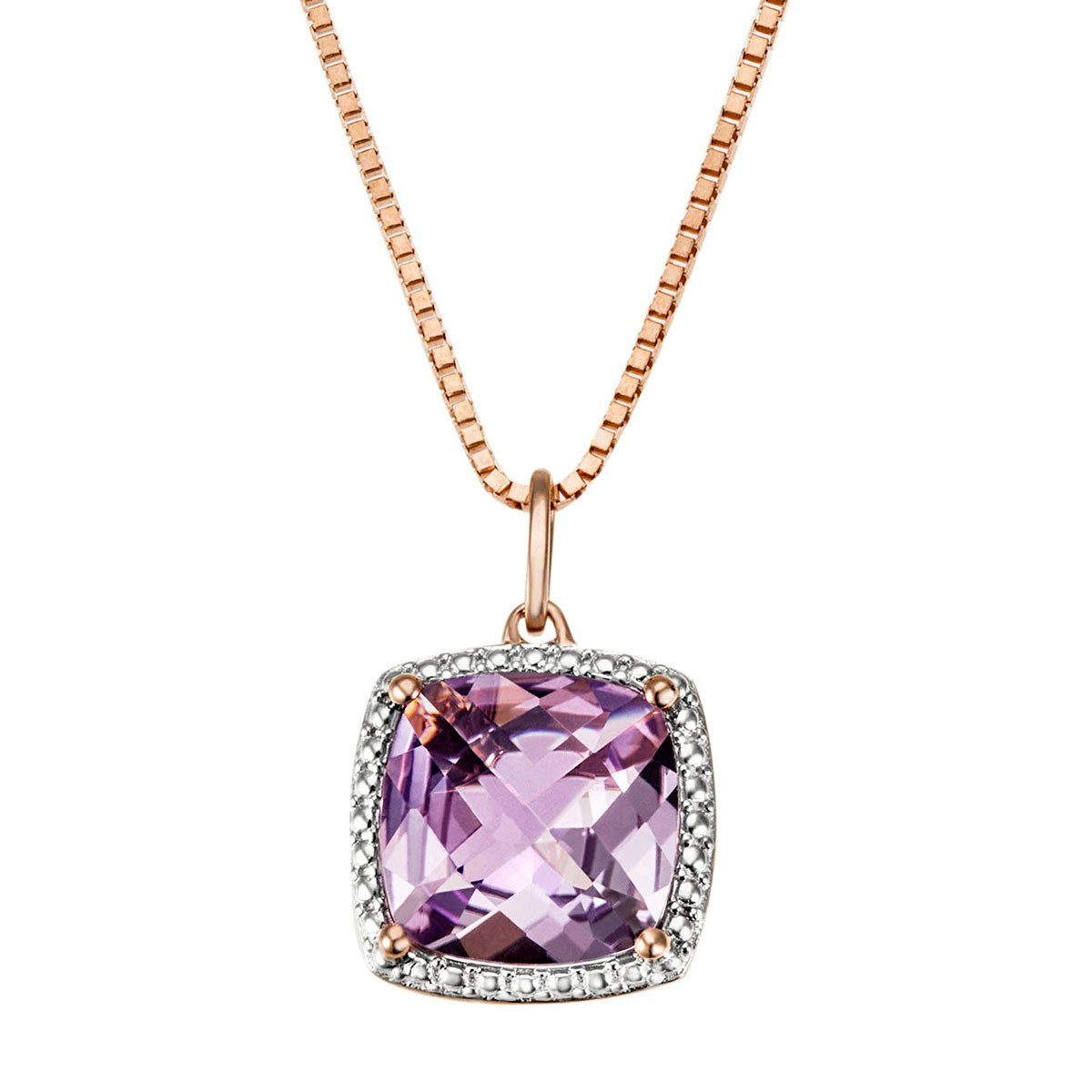 goldmaid Collier 375/- Rotgold 1 Amethyst lila