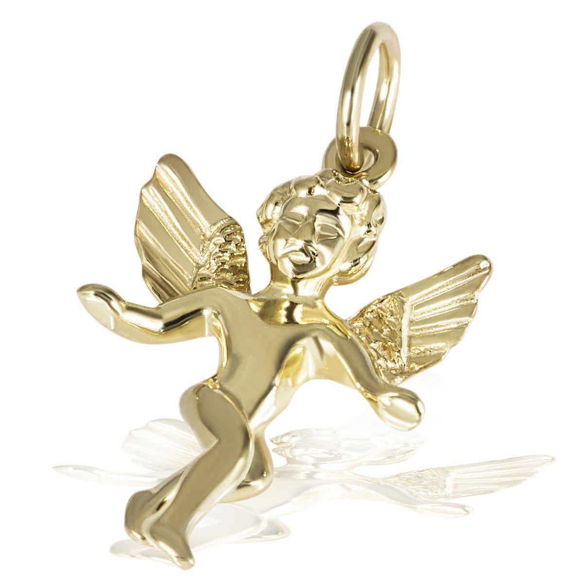 goldmaid Anhänger Tanzender Engel 375/- Gelbgold