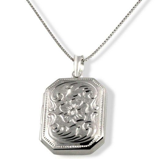 goldmaid Collier Medaillon 375/- Weißgold 1 Diamant 0,01 ct. P2/KL