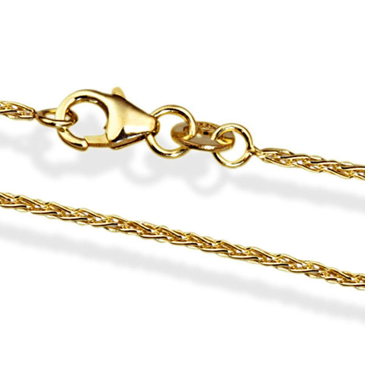 goldmaid Zopfkette 375/- Gelbgold 42 cm