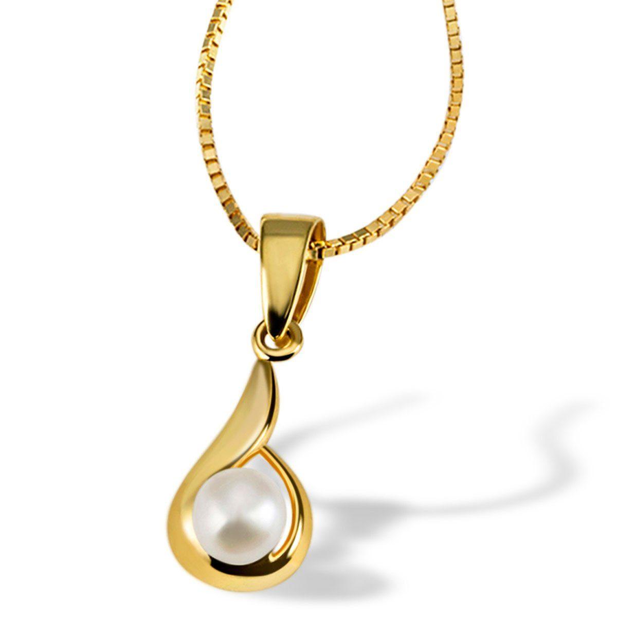 goldmaid Collier Tropfen 375 Gelbgold 1 Perle