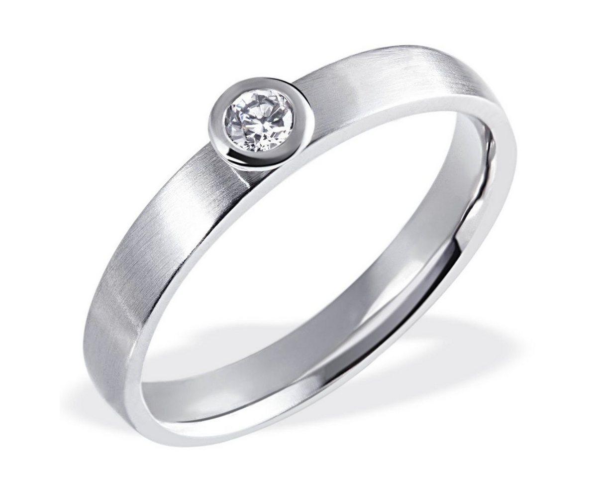 goldmaid Damenring Verlobungsring 585/- Weißgold 1 Brillant 0,10 ct. | Schmuck > Ringe > Verlobungsringe | goldmaid