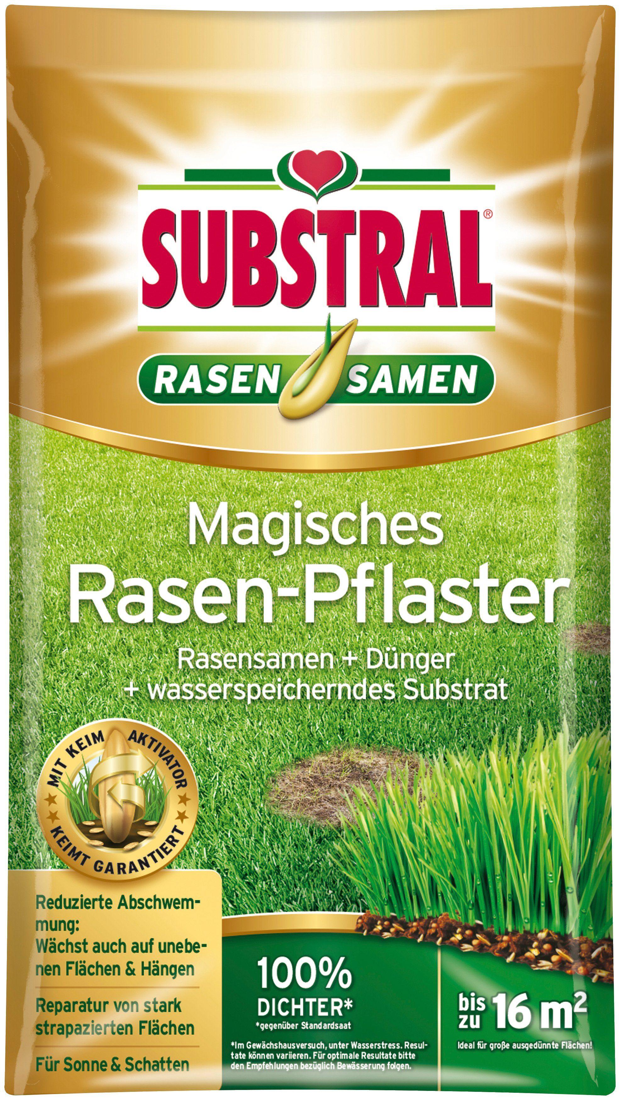 SUBSTRAL Rasenpflege »Magisches Rasen-Pflaster«, 3,6 kg, bis zu 16 m²