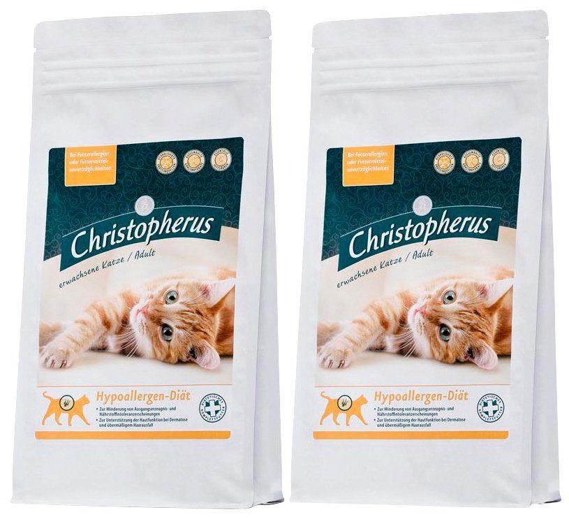 Christopherus Set: Katzentrockenfutter »Hypoallergen-Diät«, 2 Beutel á 1 kg