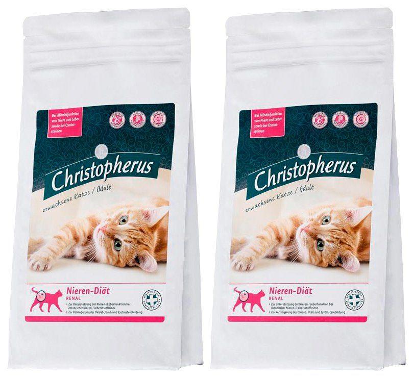Christopherus Set: Katzentrockenfutter »Nieren-Diät Renal«, 2 Beutel á 1 kg