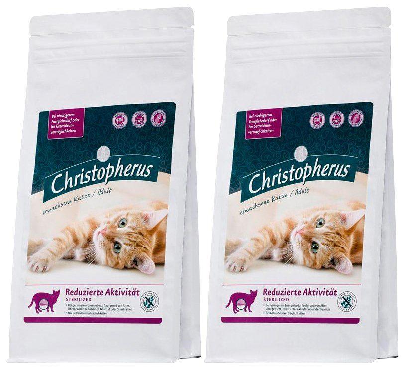 Christopherus Set: Katzentrockenfutter »Reduzierte Aktivität Sterilized«, 2 Beutel á 1 kg
