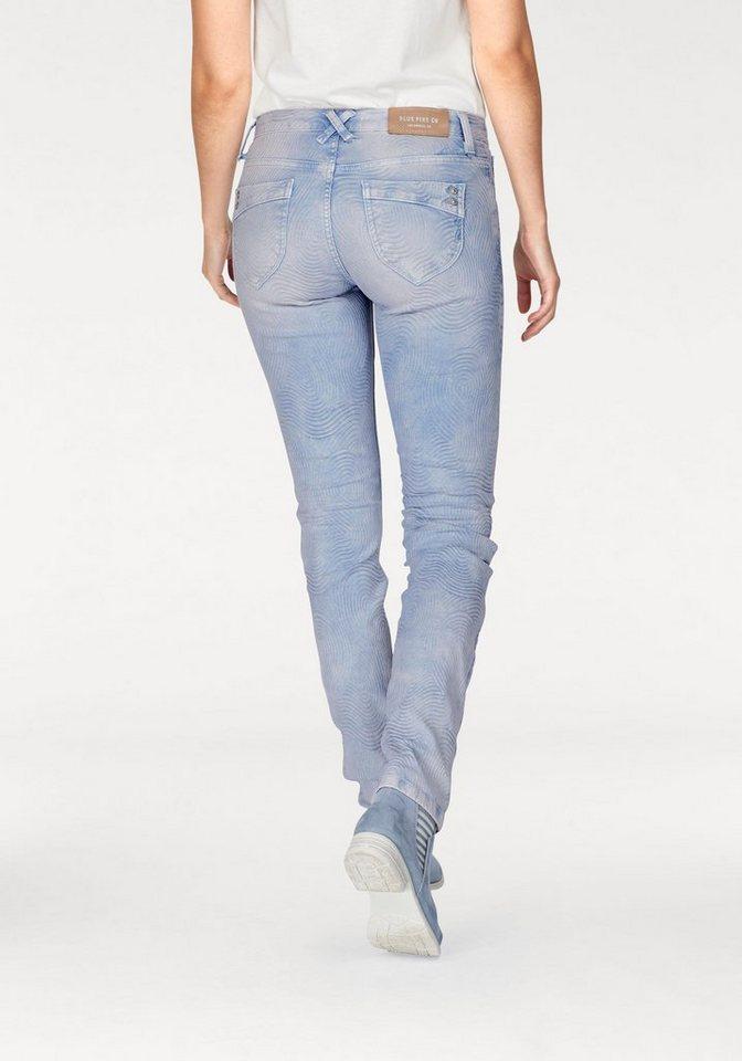 b160efece4c6 BLUE FIRE Slim-fit-Jeans »NANCY« im trendy Jacquardmuster online ...