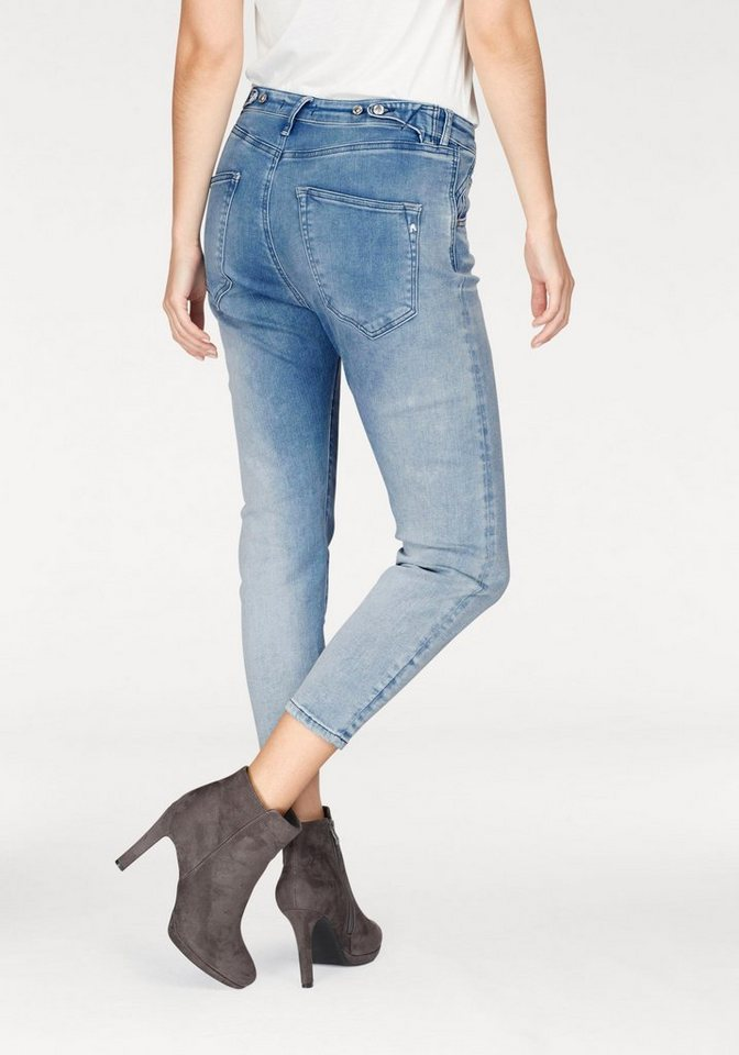 replay boyfriend jeans pilar ankle zip mit stretch online kaufen otto. Black Bedroom Furniture Sets. Home Design Ideas