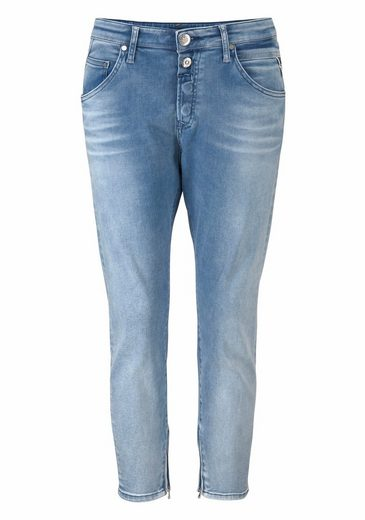 Replay Boyfriend-jeans Pilar Ankle Zip, Mit Stretch