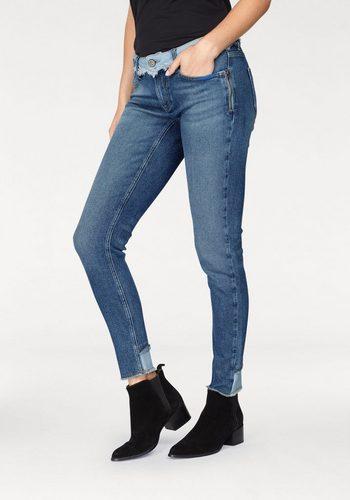 Damen BLUE FIRE Skinny-fit-Jeans CHLOE im modischen 90s Look blau   04050979645333