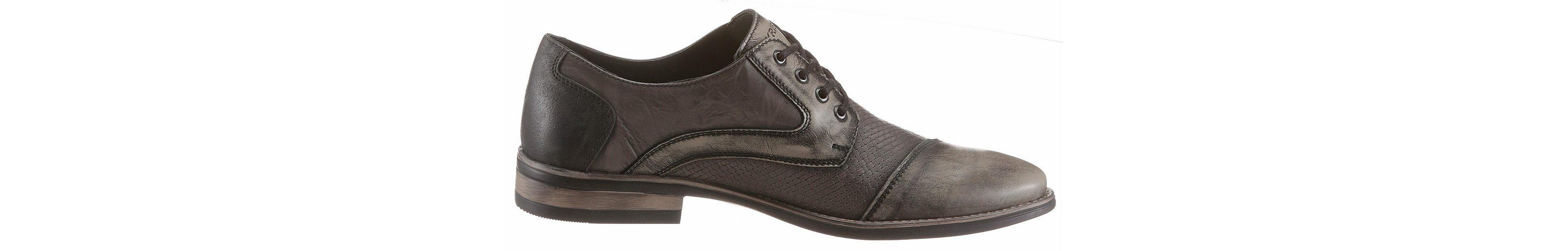 KRISBUT Schnürschuh, mit Nieten und im stylischen Used-Look