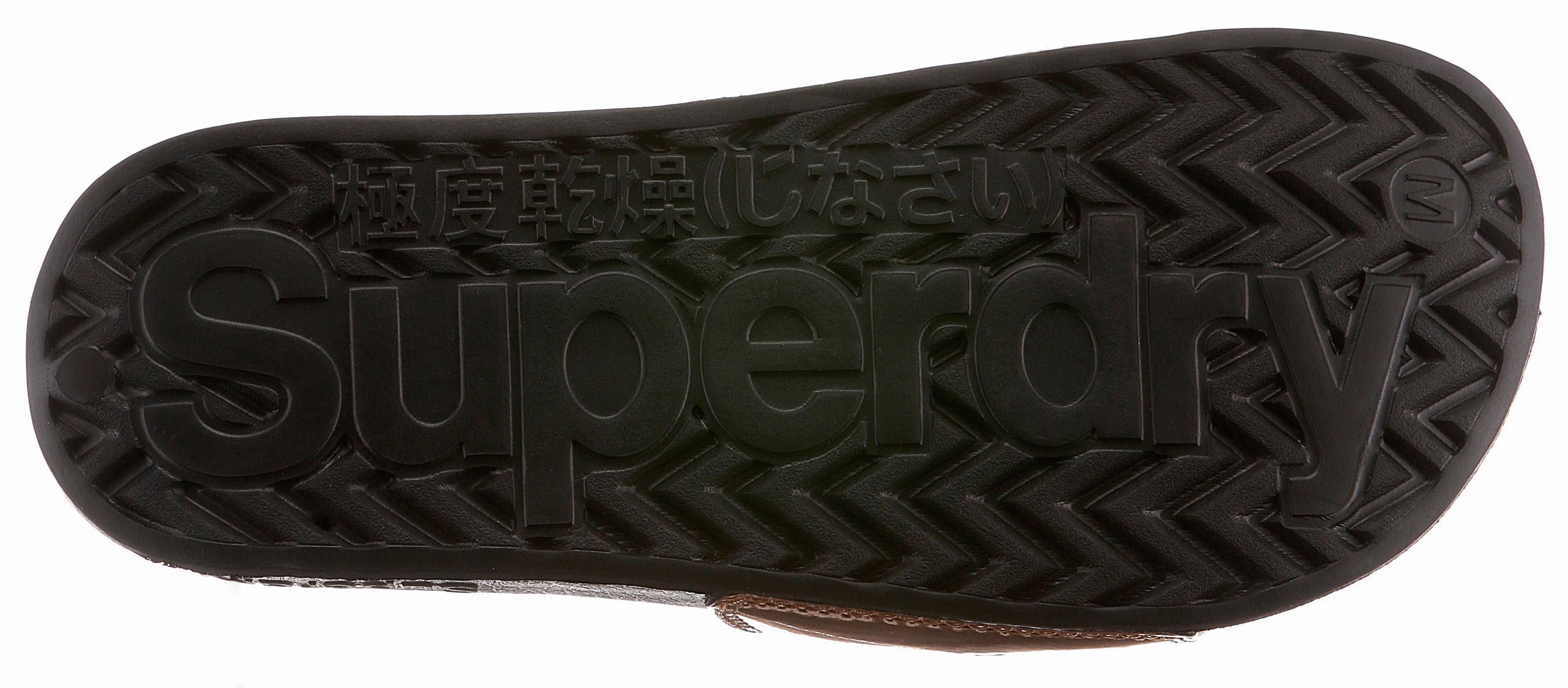Superdry Pantolette, in Spiegeloptik online kaufen  roségoldfarben