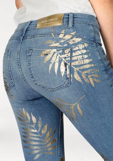 BLUE FIRE Skinny-fit-Jeans ALICIA, im floralen Allover-Design