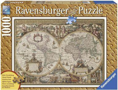 Ravensburger Puzzle »Antike Weltkarte«, 1000 Teilig, Softclick Technology