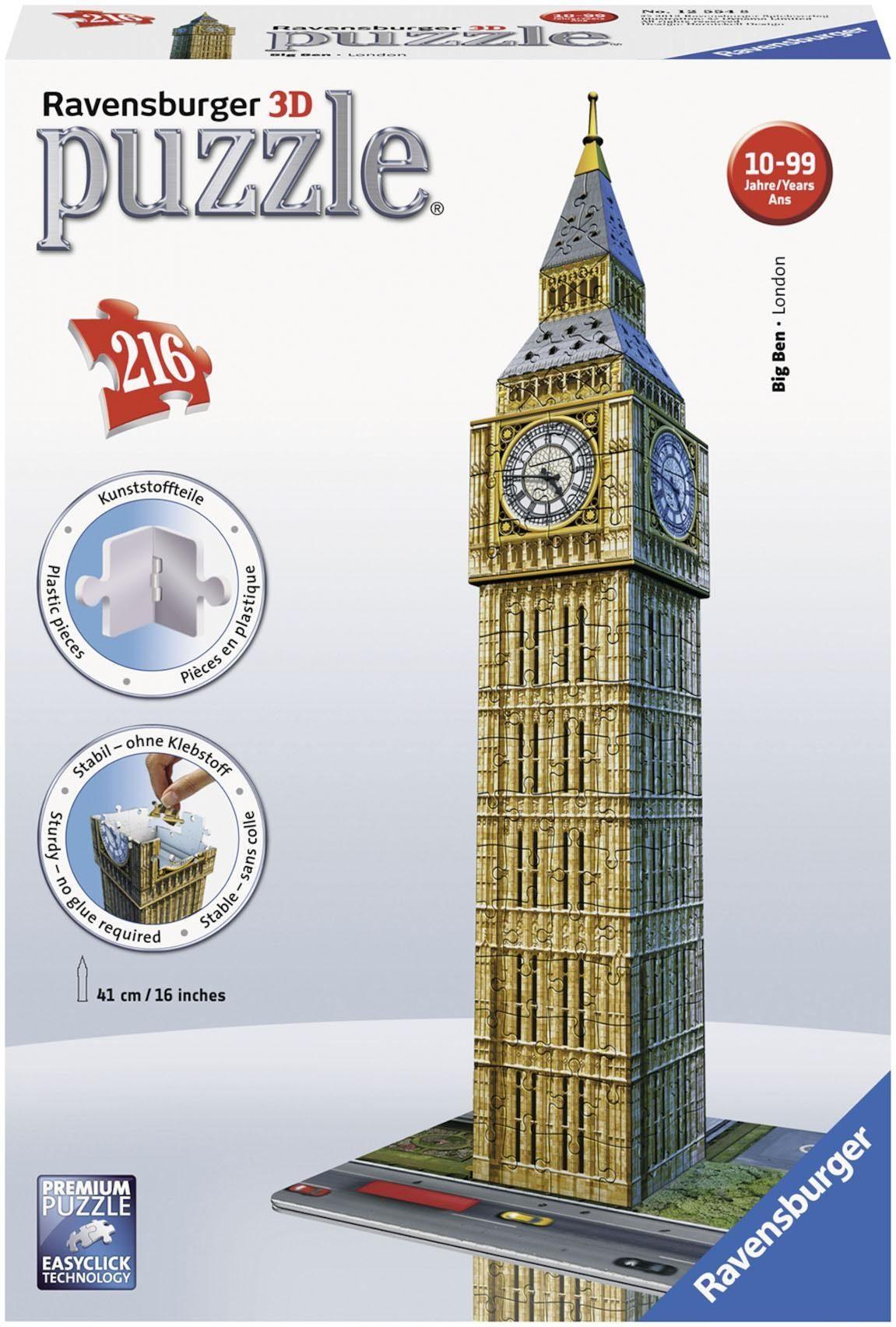 Ravensburger 3D Puzzle, 216 Teile, »Big Ben«