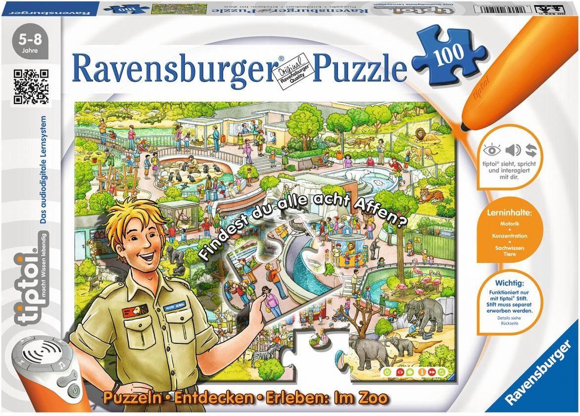 Ravensburger Puzzle, 100 Teile, »tiptoi® Im Zoo«