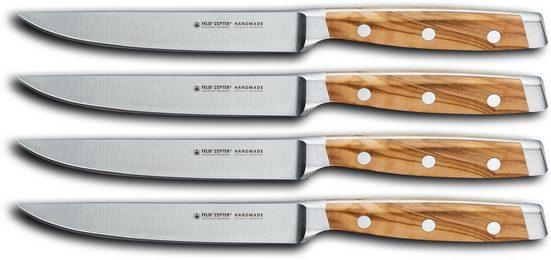 Felix Solingen Steakmesser »FIRST CLASS WOOD« (4 Stück), Vakuum- und eisgehärtet
