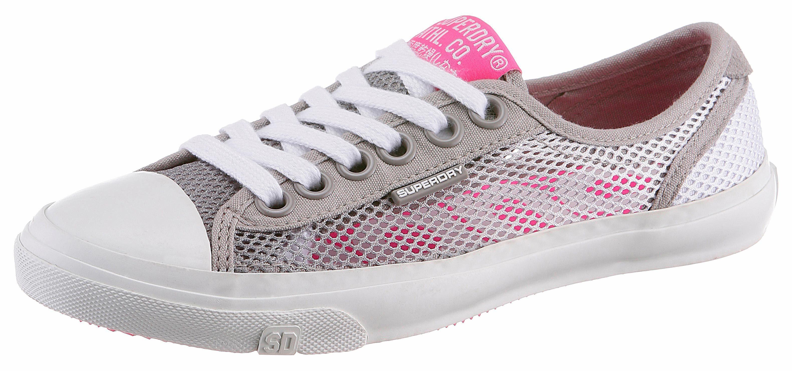 Superdry Sneaker, mit pinken Details, schwarz, schwarz+pink