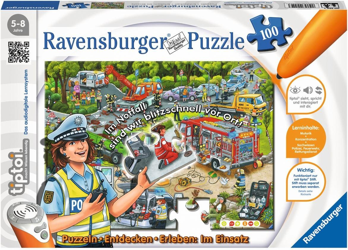 Ravensburger Puzzle, 100 Teile, »tiptoi® Im Einsatz«