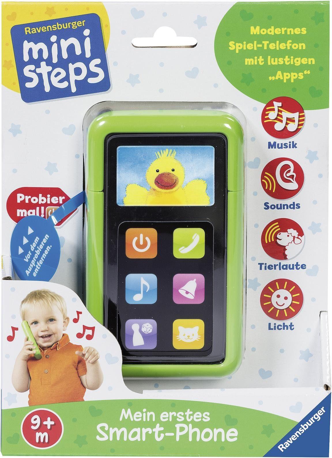 Ravensburger ministeps Mein Erstes Smart-Phone Lernspielzeug Spielzeug Kleinkind Spiele