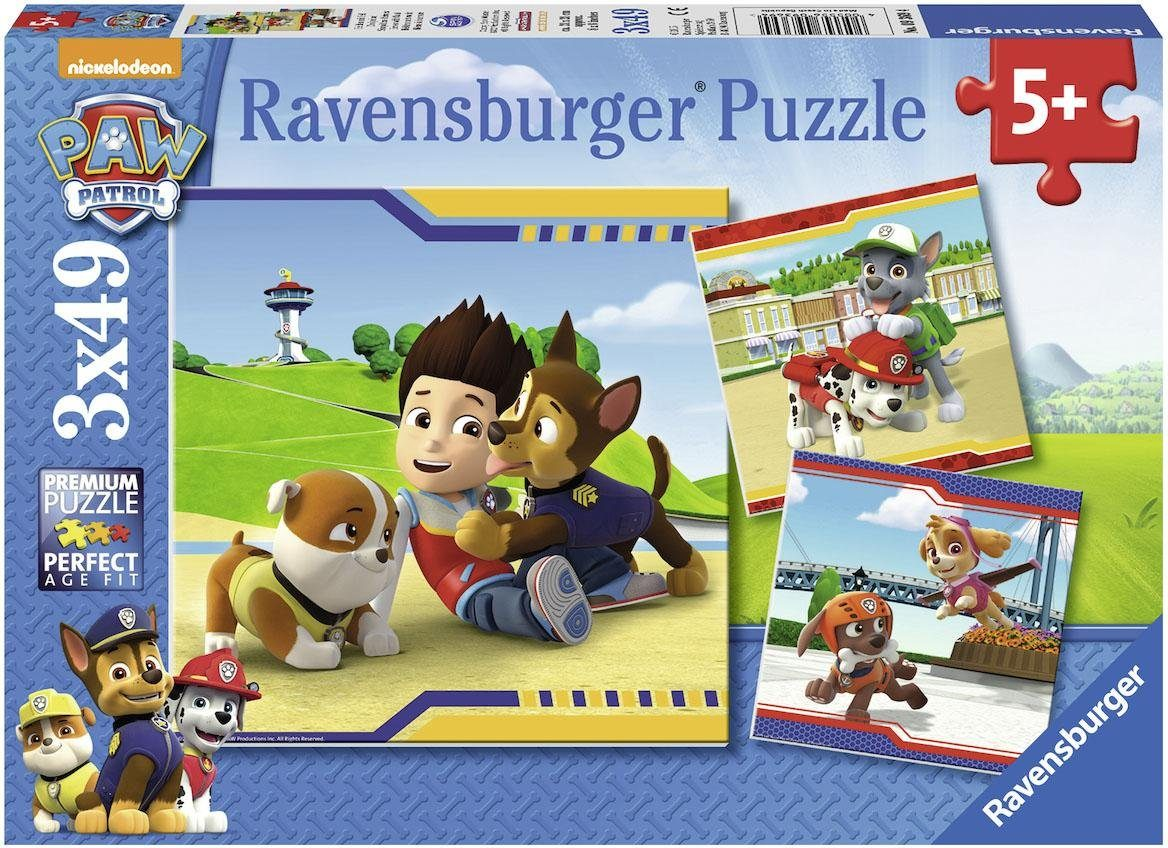 Ravensburger Puzzle, 3x49 Teile, »Paw Patrol Helden mit Fell«