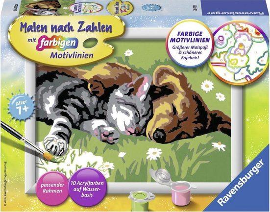 Ravensburger Malen nach Zahlen »Tiefer Schlaf«, Made in Europe, FSC® - schützt Wald - weltweit