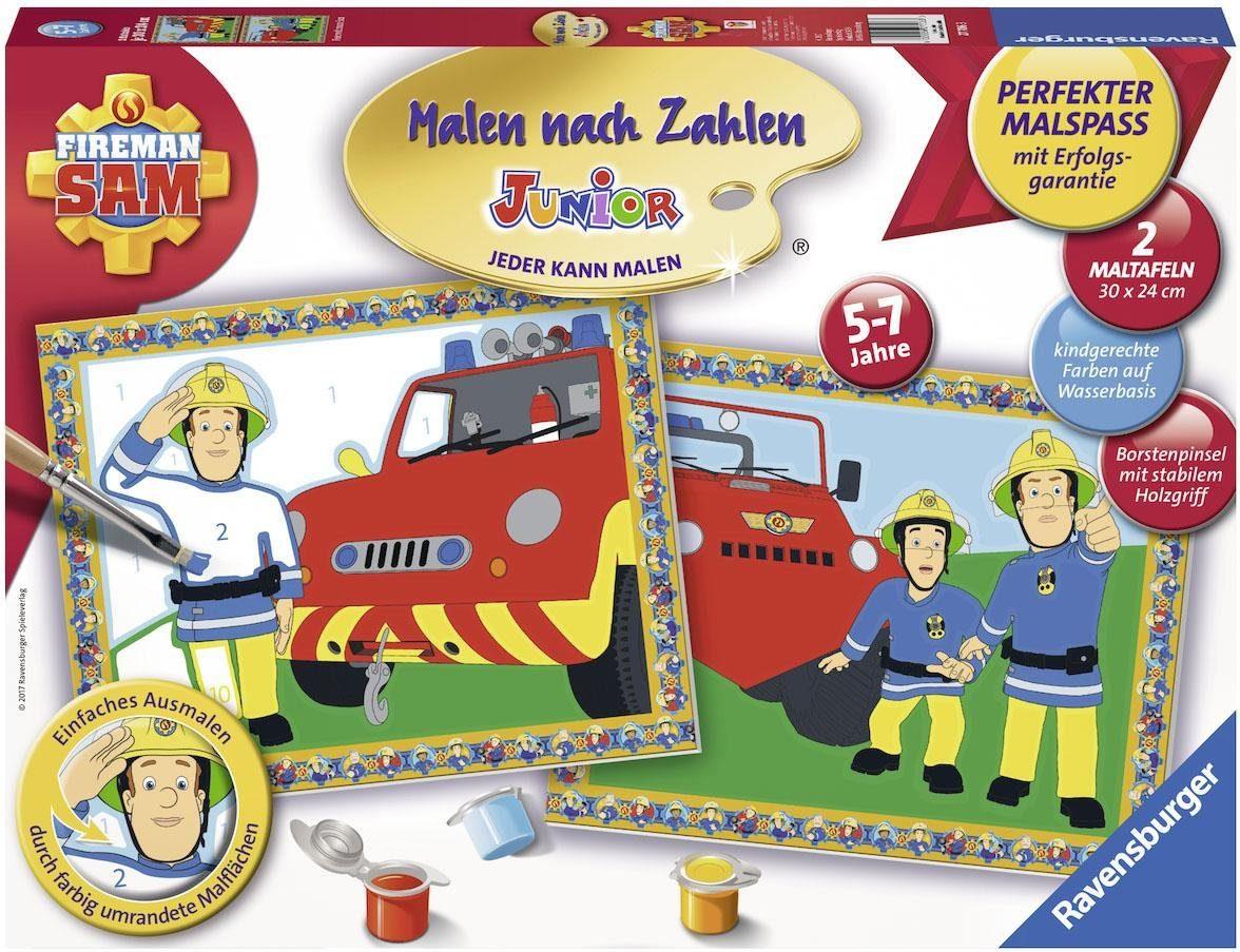 Ravensburger Malen nach Zahlen, »Feuerwehrmann Sam, Junior«