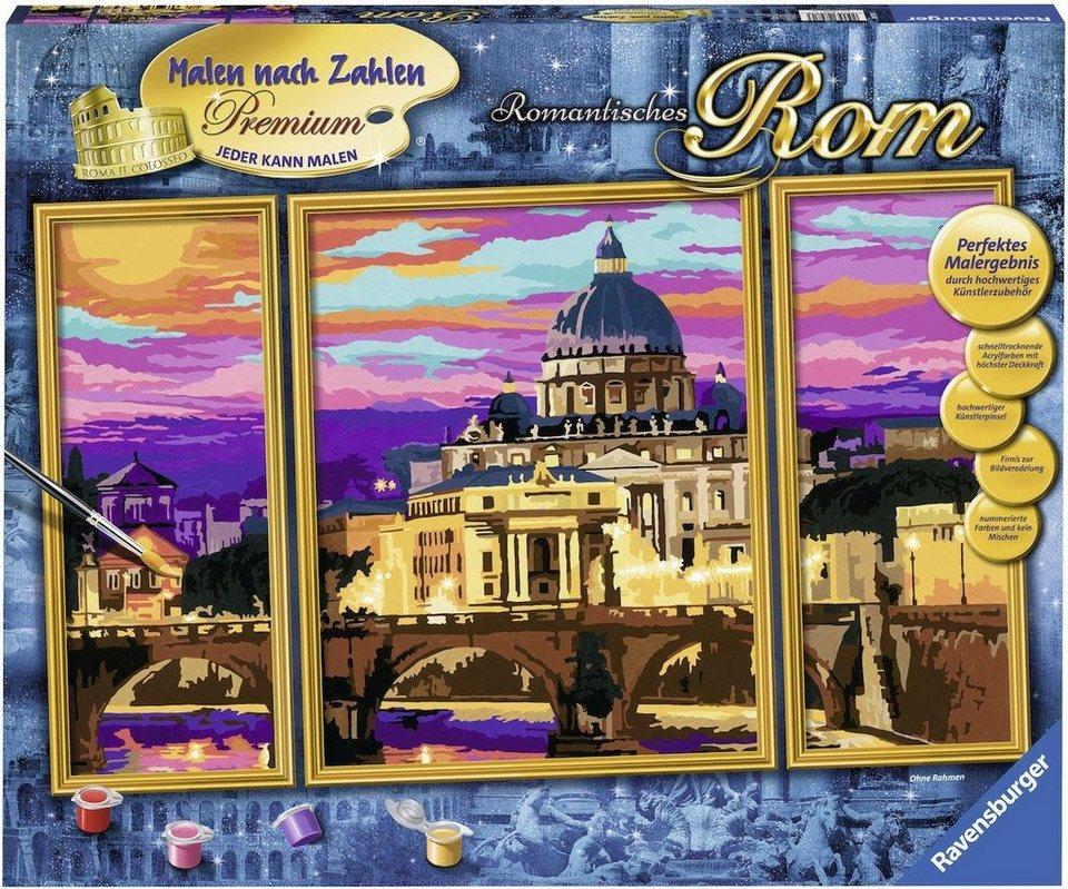 Ravensburger Malen Nach Zahlen Romantisches Rom Premium Online Kaufen Otto