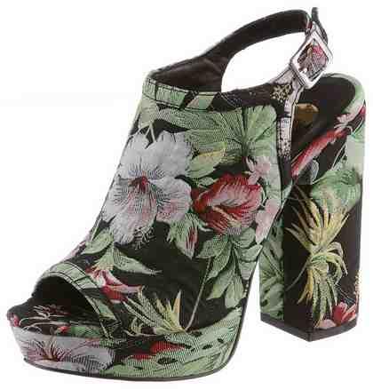 Buffalo Sandalette mit aufwendigem Blumendesign