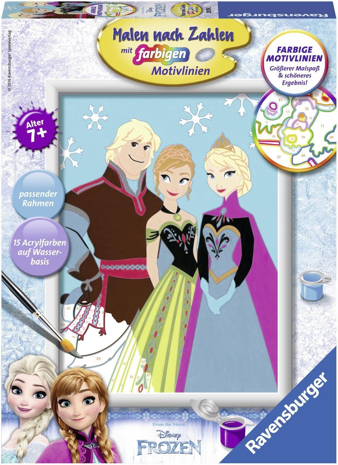 Ravensburger Malen nach Zahlen, »Disney Frozen, Elsa, Anna und Kristoff«
