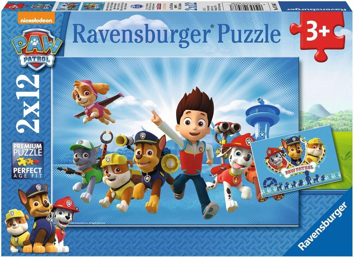 Ravensburger Puzzle, 2x12 Teile, »Ryder und die Paw Patrol«
