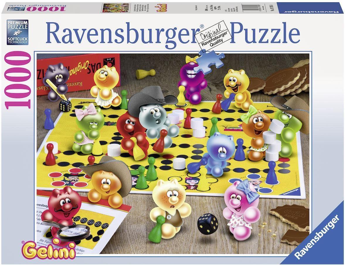 Ravensburger Puzzle, 1000 Teile, »Spieleabend bei den Gelini«