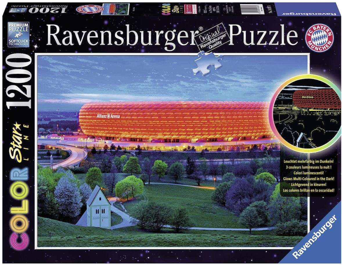 Ravensburger Puzzle, 1200 Teile, »Color Star Line, Allianz Arena«