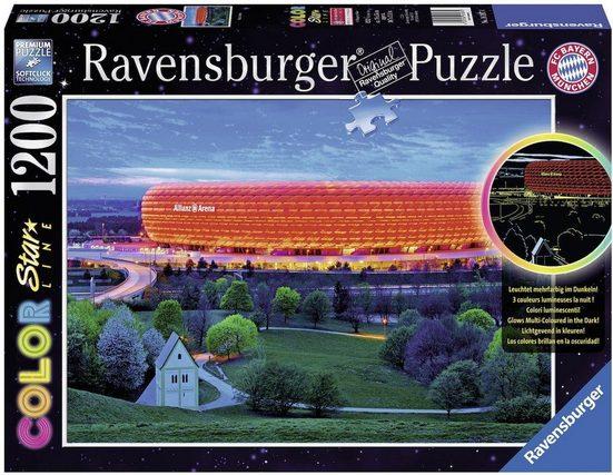 ravensburger puzzle color star line allianz arena 1200. Black Bedroom Furniture Sets. Home Design Ideas