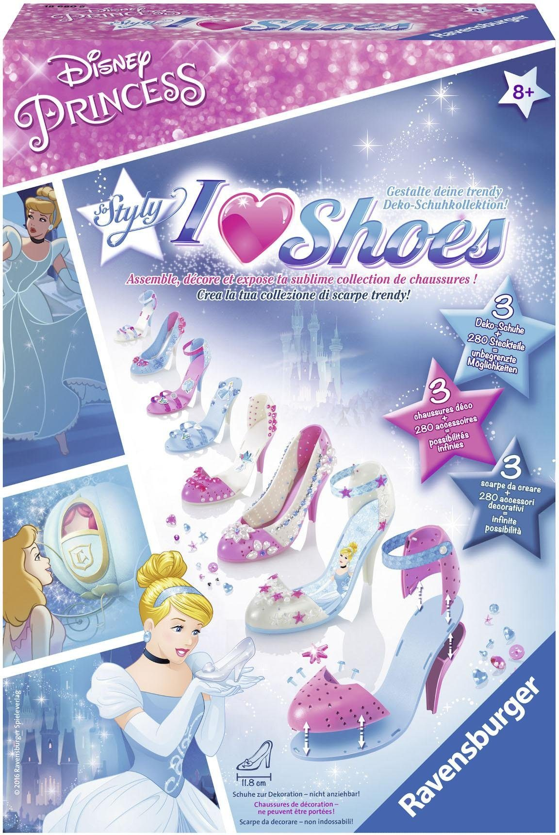 Ravensburger Bastelset, »So Styly Disney Princess, I love Shoes Cinderella«
