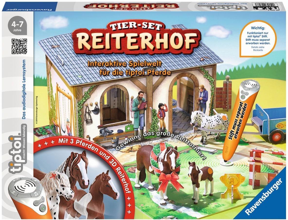 Ravensburger Spielset, »tiptoi® Tier Set Reiterhof «