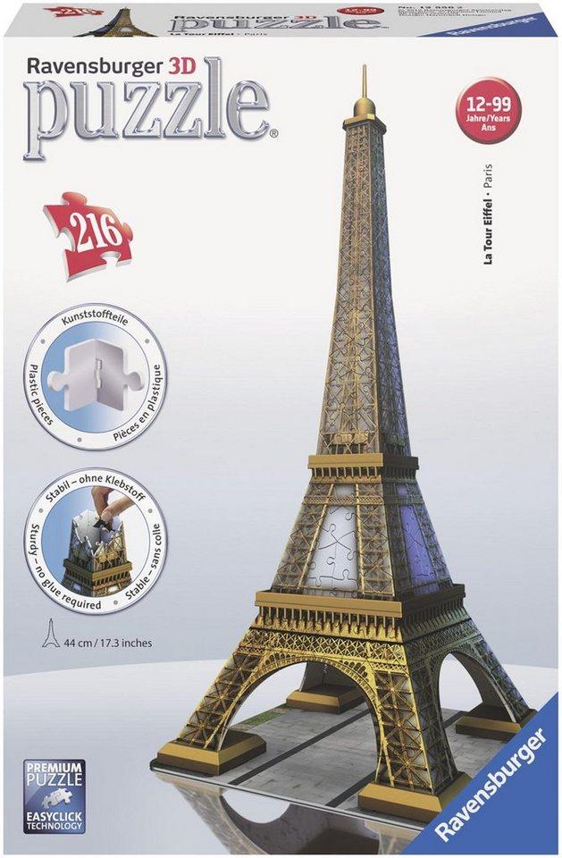 Ravensburger 3D Puzzle, 216 Teile,  Eiffelturm
