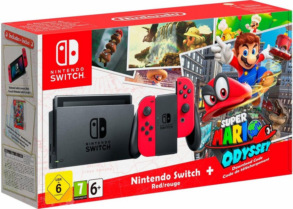 nintendo switch konsole super mario odyssey dlc online. Black Bedroom Furniture Sets. Home Design Ideas