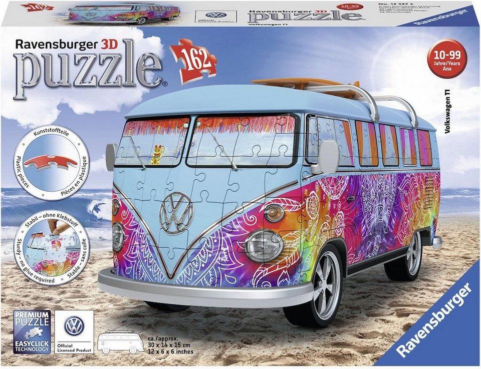 ravensburger 3d puzzle 162 teile vw bus t1 indian. Black Bedroom Furniture Sets. Home Design Ideas