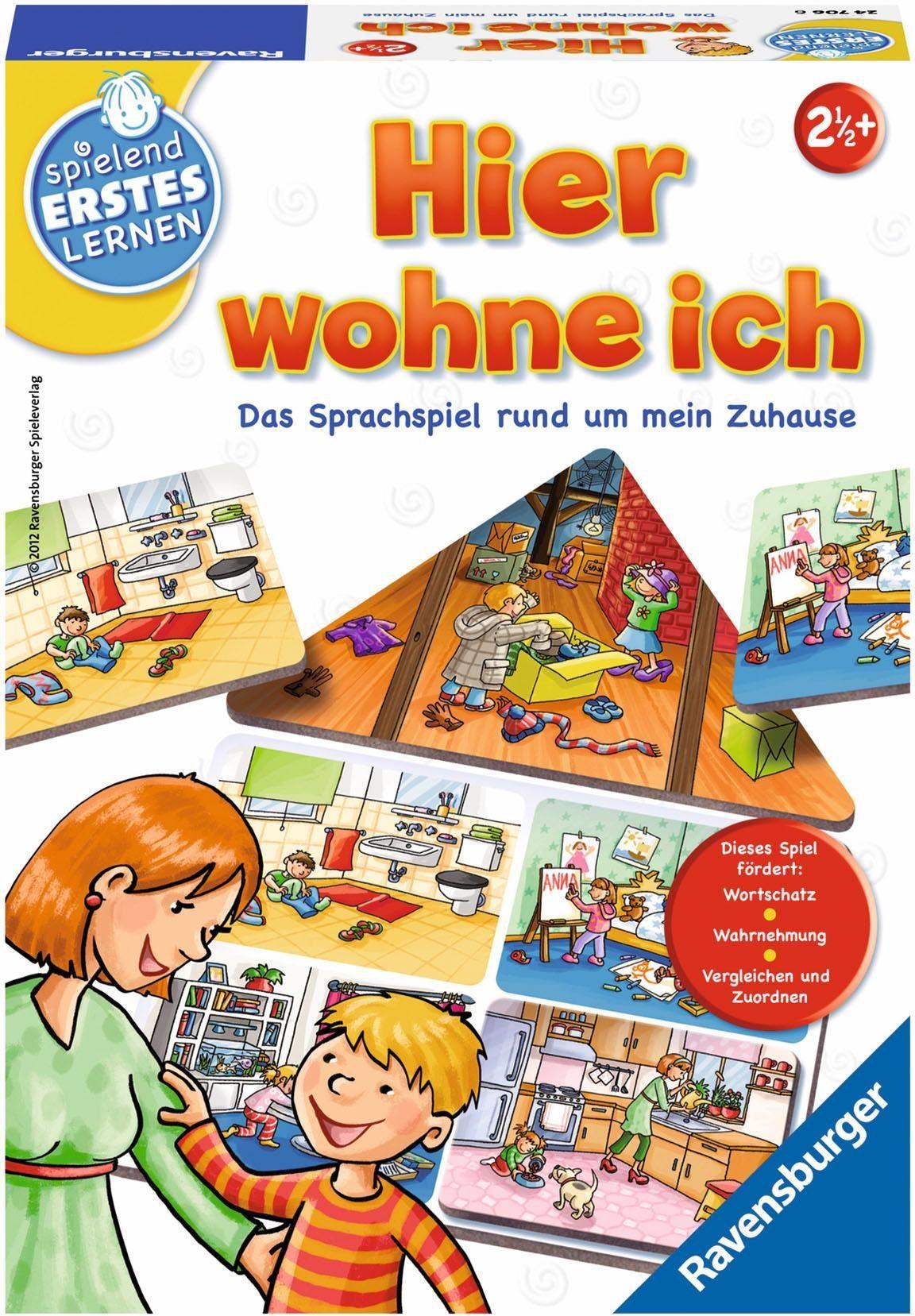 Ravensburger Lernspiel, »Hier wohne ich «