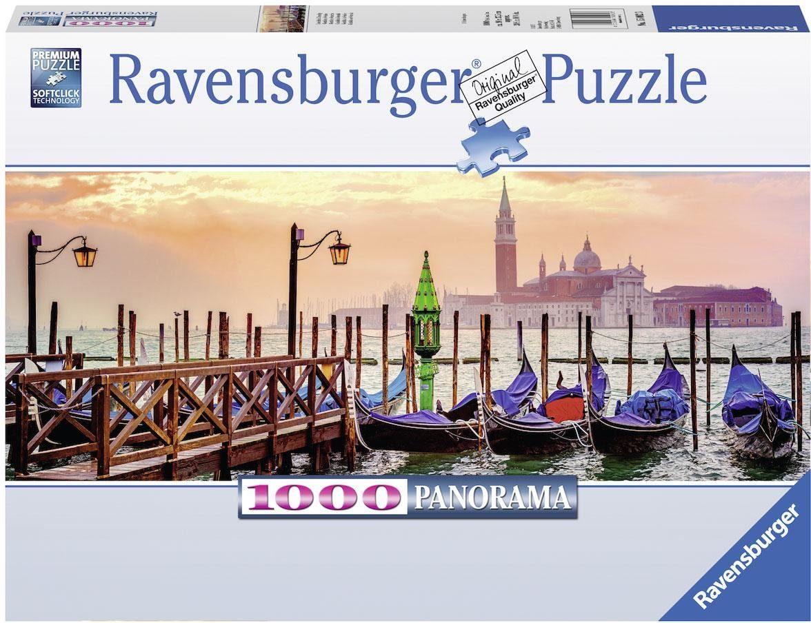 Ravensburger Puzzle, 1000 Teile, »Gondeln in Venedig«