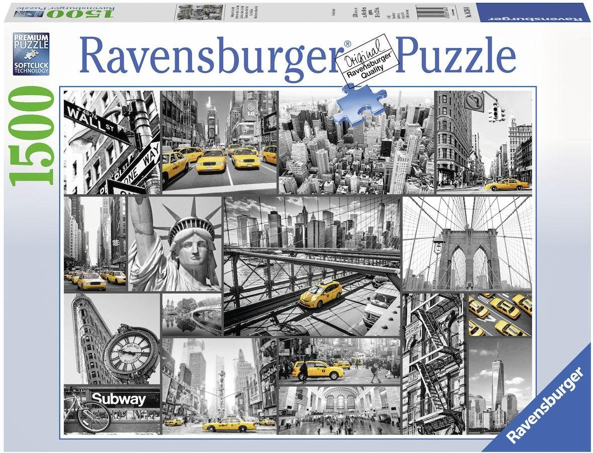 Ravensburger Puzzle, 1500 Teile, »Farbtupfer in New York«