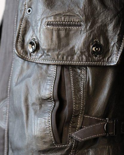 JCC Lederjacke mit stylischer Kapuze M-457