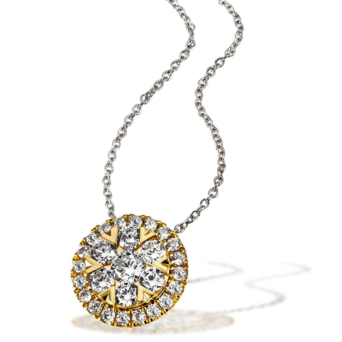 goldmaid Collier 585/- Gelbgold 27 Brillanten 0,49 ct. P2/H