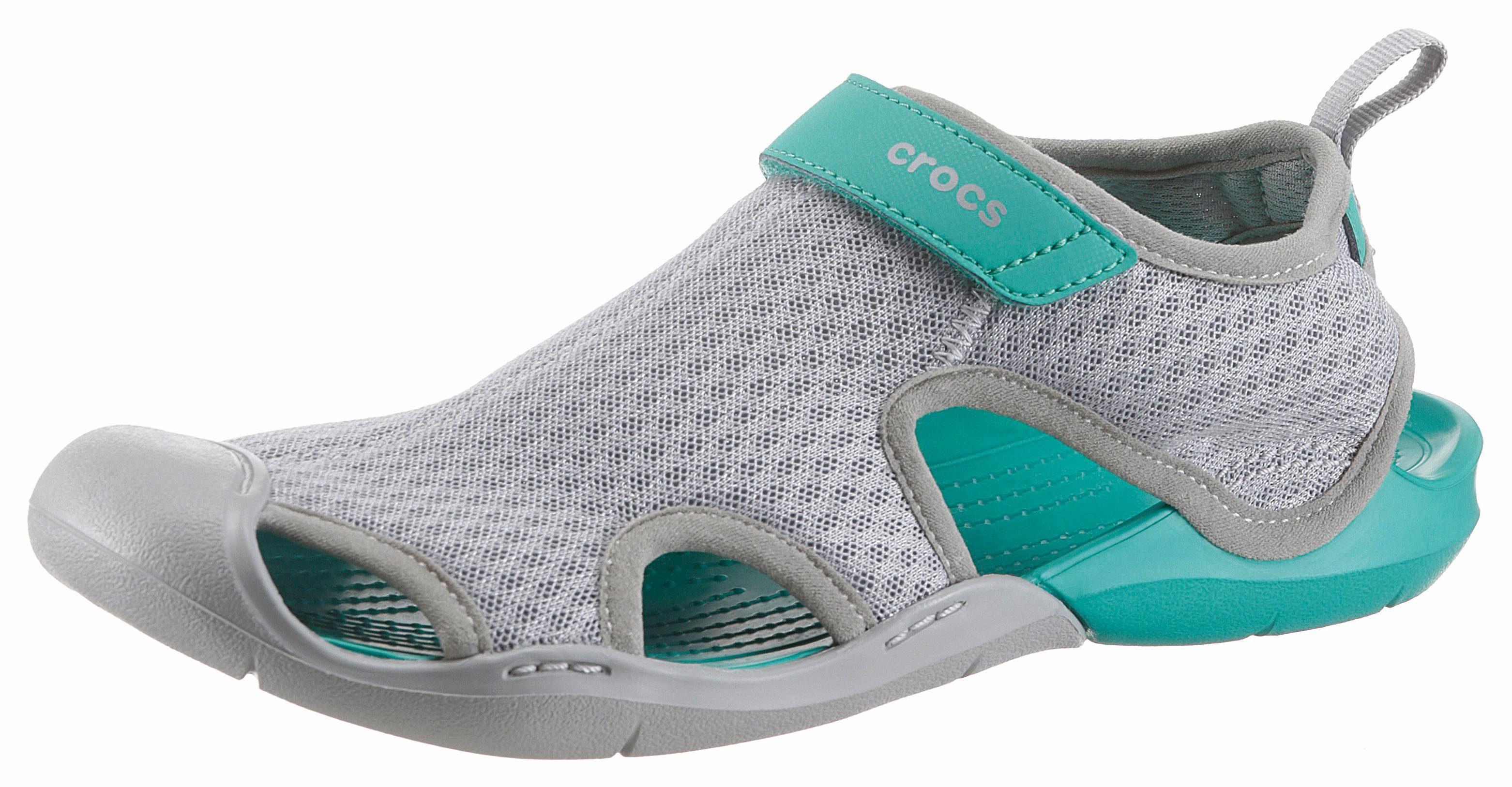 Crocs Swiftwater Mesh Sandal Sandale, mit praktischem Klettverschluss online kaufen  grau-petrol